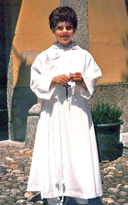 Carlo bei seiner Erstkommunion mit 7 Jahren.